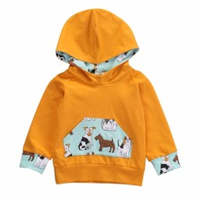 Infant Baby Kinder Kleidung Neue Mode Sweatshirt Solide Hoodies Cartoon Print Tops Kinder Bebe Baumwolle Kleidung