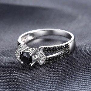 Image 2 - JewelryPalace 정품 블랙 스피넬 반지 여성을위한 925 스털링 실버 반지 약혼 반지 실버 925 보석 파인 쥬얼리