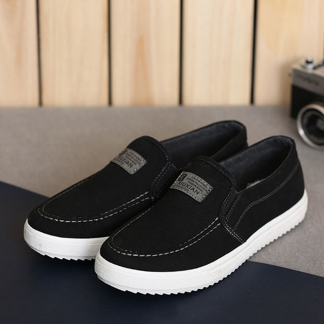 Spring Autumn Men Shoes Fashion Men Casual Canvas Shoes Flat Shoes Man High Quality Comfortable Style Breathable Slip On Shoes