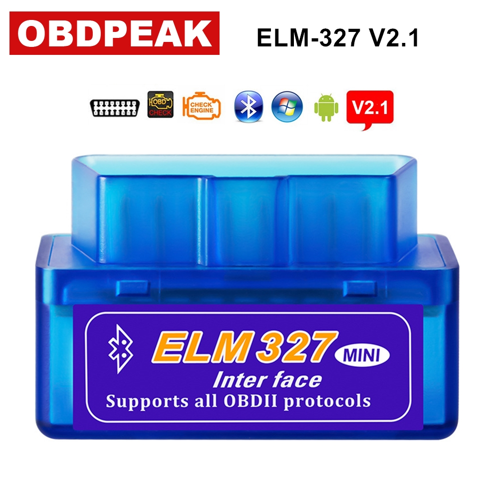 Super Mini Elm327 Bluetooth OBD2 V2.1 Elm 327 V 2.1 OBD 2 Car Diagnostic-Tool Scanner Elm-327 OBDII Adapter Auto Diagnostic Tool obdii bluetooth car diagnostic cable black blue dc 12v