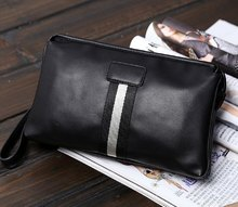 Classic PU Leather Men Clutch Convenient Handbag Trendy Pruse Money Phone Case Daily Necessary