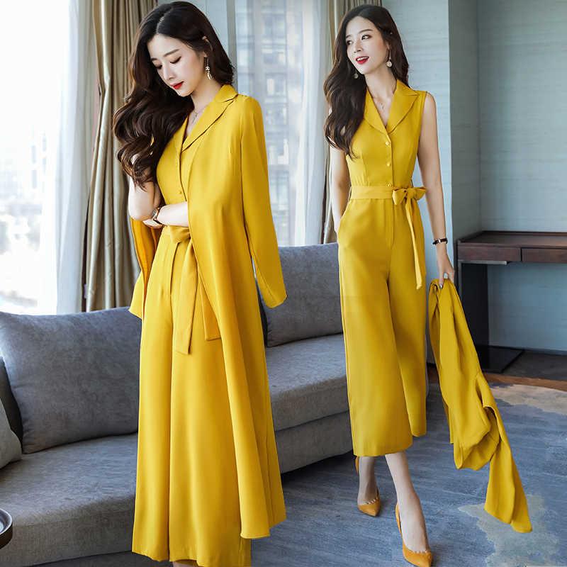 Fashionable Two Piece Set Woman Suit Office Lady Stylish Ensemble Femme  Survetement Year-old Female ea70ef277acf