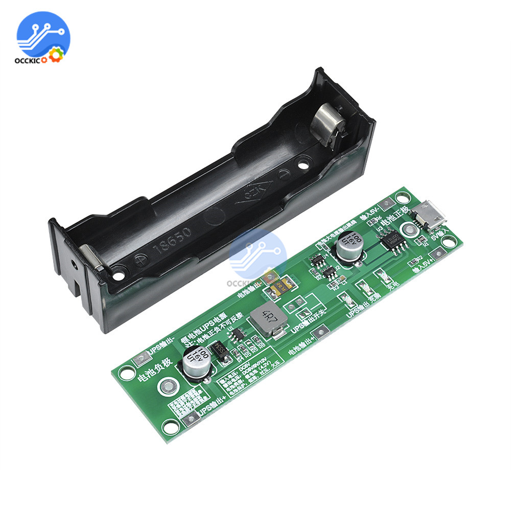 5V 18650 Lithium Battery Charger Protection Board With Power Boost Step Up UPS Uninterrupted Function Charge Discharge Balancer