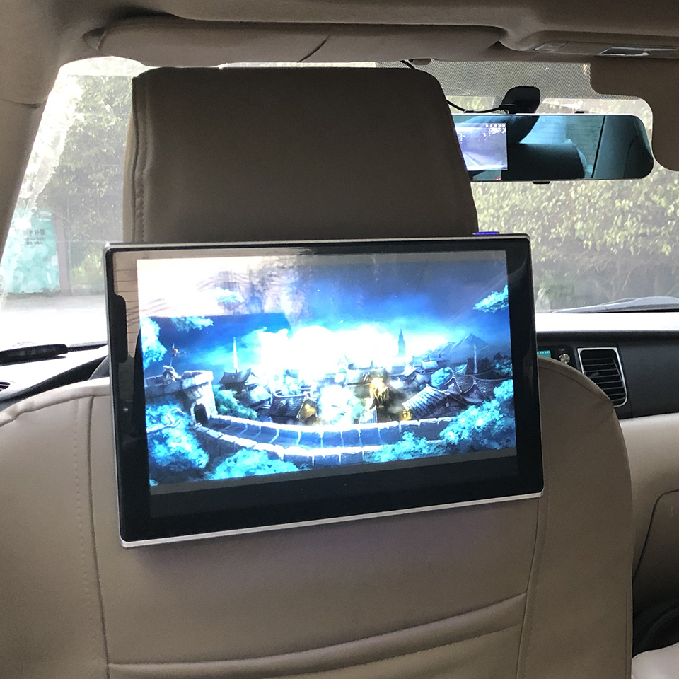 Car Android 7 1 System Headrest Monitor 2PCS With Bluetooth AUX 11 8 inch FM Transmitter TV Screen For Renault Corrige in Car Monitors from Automobiles Motorcycles