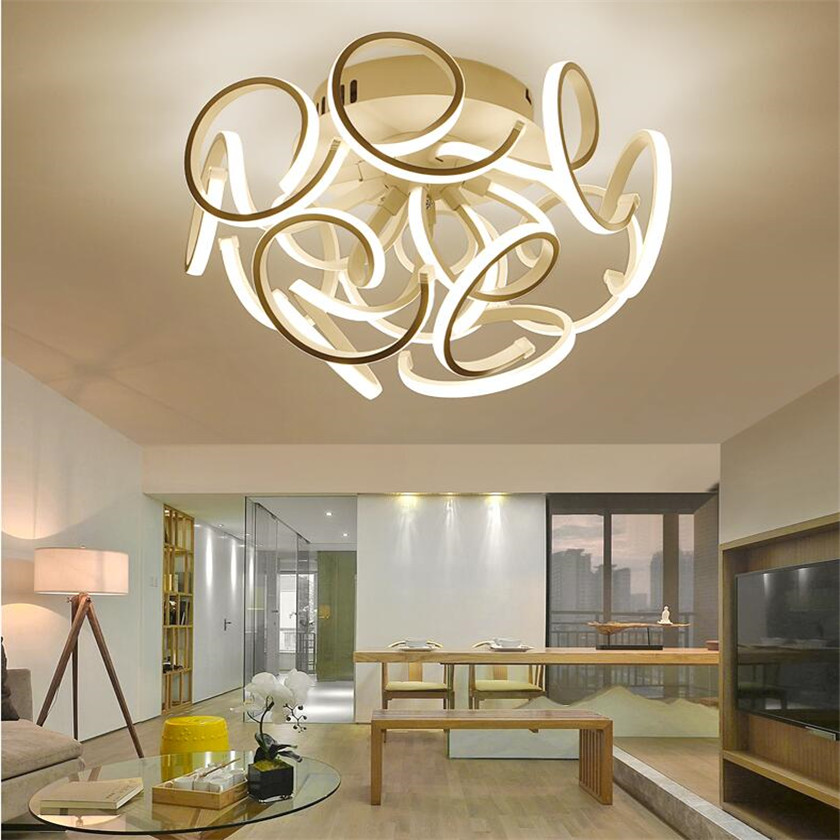 Minimalism Led Ceiling Lights For Living Room Bedroom Plafon Home Lighting Ceiling Lamp Fixture Dimming Remote luminaria de teto