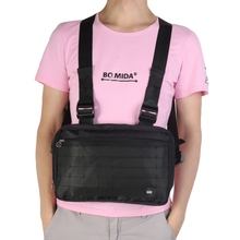 USA Shipping Men Women Chest Rig Bags Streetwear Waist Bag Functional Tactical Cross Shoulder Bags Adjustable Chest Style Bag