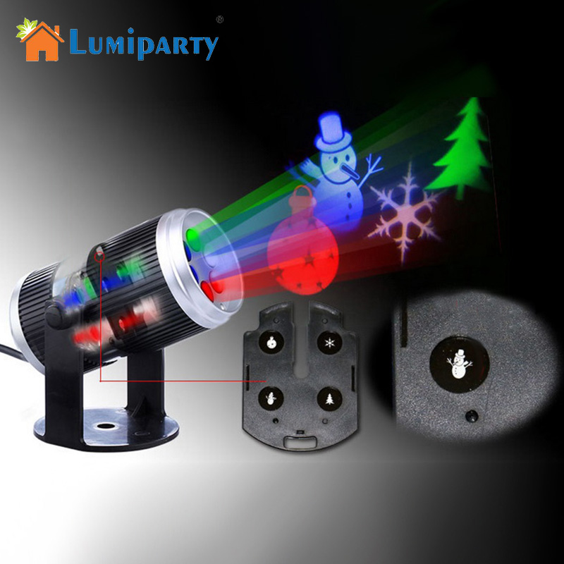 lumiparty 6 types holiday decoration stage light christmas party laser snowflake projector. Black Bedroom Furniture Sets. Home Design Ideas