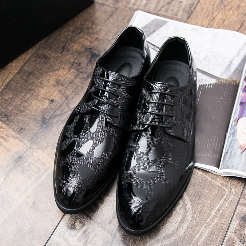 Designer Pointed Snake Skin Leather Men Shoes Italian Fashion Dress Wedding Male Footwear Brand Comfortable Oxford Shoes For Men Shoes Formal Shoes