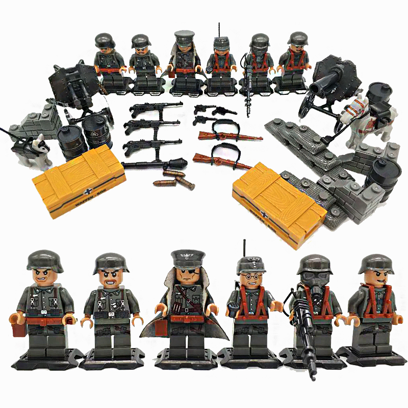 Фото 2017 NEW Weltkrieg 2 The Eastern Front German fighting Military Army Soldiers weapons building blocks toys Compatible LegoINGlys