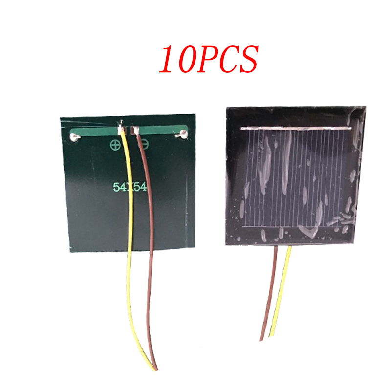 10pcs Solar Panel 54x54mm Mini Motor Solar System Board 2v 130ma 0.26w With 150mm Wire Diy Toy Accessories For Rc Car/boat Model Promoting Health And Curing Diseases
