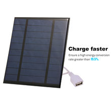 2.5W/5V/3.7V Portable Solar Charger With USB Port Compact Solar Panel Phone Charger For Camping Hiking Travel