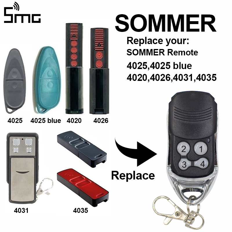 2pcs Sommer <font><b>remote</b></font> transmitter replacement <font><b>for</b></font> sliding <font><b>gates</b></font> SOMMER garage <font><b>gate</b></font> door <font><b>remote</b></font> control command rolling code 868mhz image