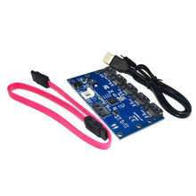 Adapter Card SATA 1 to 5 Port Converter SATA Port Multiplier Riser card Hub(China)