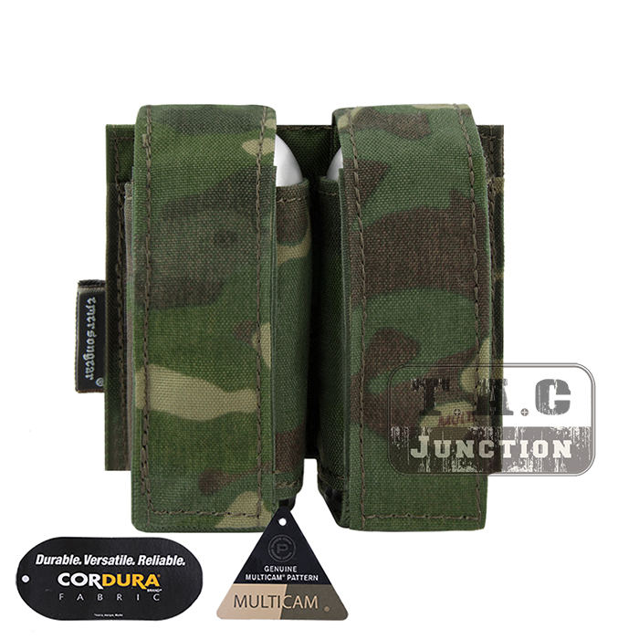 Emerson Tactical MOLLE Double 40mm Grenade Pouch Emersongear 9mm Magazine Holder Carrier Ammo Bag PALS Multicam Tropic
