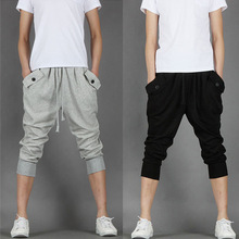 2019 Students Fashion Summer Thin Casual Pants Black Men Joggers Sweat