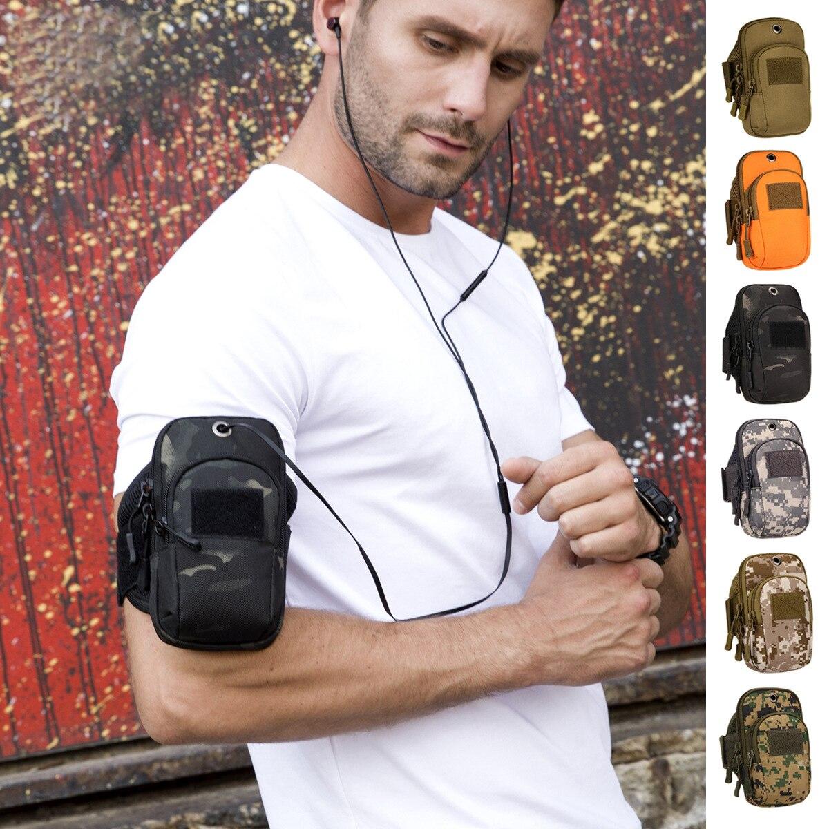Водоотталкивающая Военная Тактическая камуфляжная сумка на руку, сумка для рыбалки, мобильный телефон, сумка для рыбалки, сумка для бега, ка...