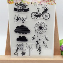 Dream Wind Chime Designs Transparent Clear Stamp DIY Silicone Seals Scrapbooking/Card Making/Photo Album Decoration Supplies