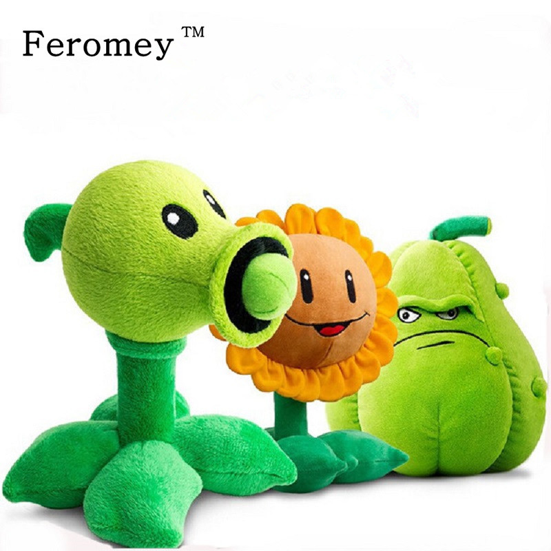 Hot Plants vs Zombies Plush Doll Toys 30cm Pea Shooter Sunflower Squash Stuffed Doll Figures Toys Children Kids Gift fancytrader new style giant plush stuffed kids toys lovely rubber duck 39 100cm yellow rubber duck free shipping ft90122