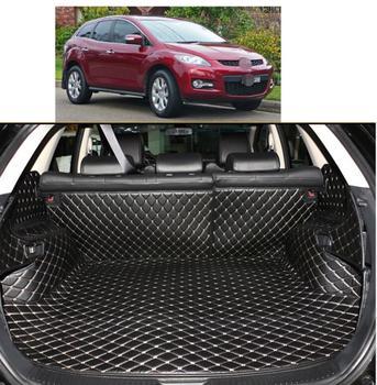 fiber leather car trunk mat for mazda cx-7 2006 2007 2008 2009 2010 2011 2012 2013 accessories