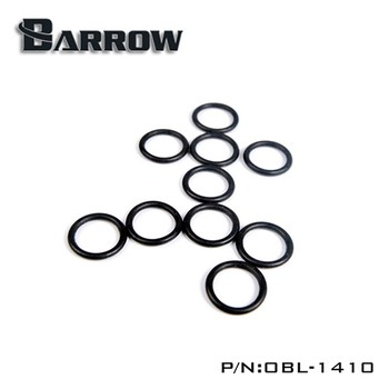 Barrow OBL-1410 water cooler G1/4 Black Butyronitrile O Ring heatsink gadget image