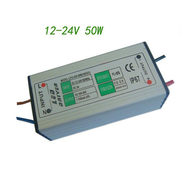Lights & Lighting Low Voltage Boost Waterproof Led Driver Dc12-24v 50w Led Drive Power Supply For Underwater/solar Energy Lighting 10pcs To Reduce Body Weight And Prolong Life