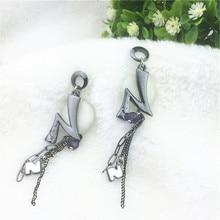 Nickel Free Crystal Sexy Punk Luxury Bridal Earrings Fashion Jewelry Drop Earrings Vintage Brand Statement Earrings For Women