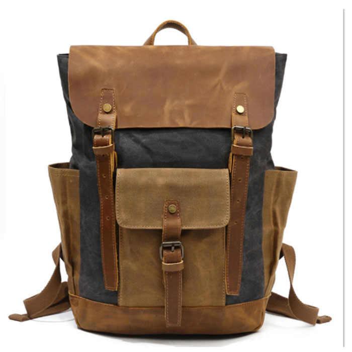 Винтажный повседневный мужской повседневный рюкзак, Холщовая Сумка, школьная сумка, Ретро сумка на плечо, повседневный рюкзак, мужской рюкзак, зеленый/серый/коричневый/хаки