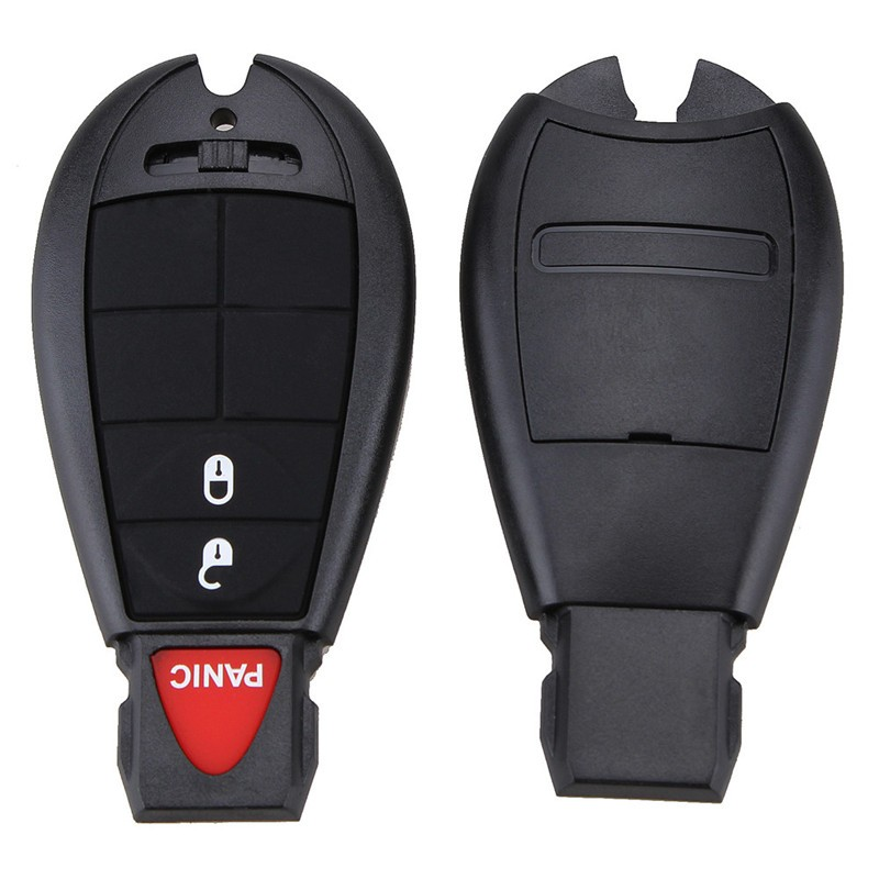 IZTOSS 3Button Panic Keyless Remote Fob Key Shell Key Blank Case For Chrysler Dodge Insert Blade