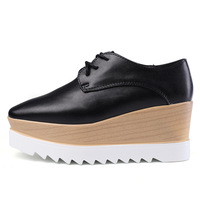Drop shipping Oxfords Shoes For Women Platform Creepers Women's Oxfords Shoes Star Casual Ladies Flats Shoes Loafers Black