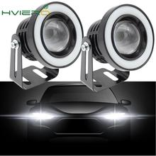 2X 64mm 76mm 89mm Angel Eyes COB LED Auto Fog Lights Universal Daytime running light White Red Blue Headlight 30W DC 12V