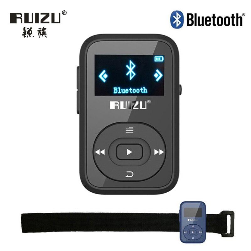 Ruizu LCD Sport Audio Mini Lettore Mp3 Bluetooth Musica Audio Mp 3 Mp-3 Con Radio Schermo Digitale Hifi Hi-Fi Fm Flac Usb 8 GB Clip