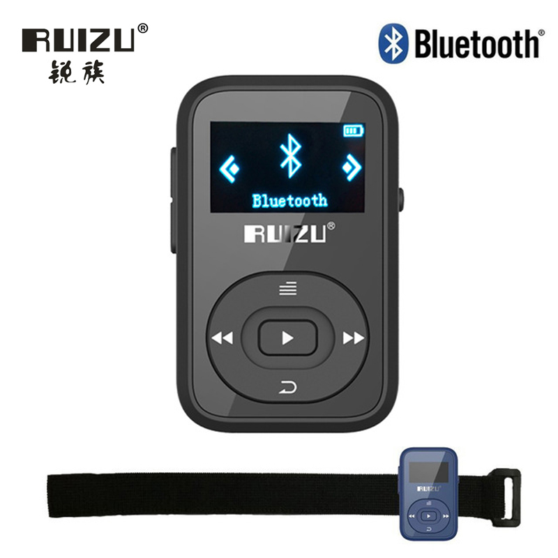 Ruizu ЖК-дисплей Спорт Аудио Mini Bluetooth MP3 плеер аудио MP 3 MP-3 с Радио цифровой HiFi Hi-Fi Экран FM FLAC USB 8 ГБ клип