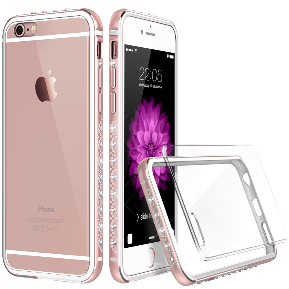 Aliexpress com buy bumper for 6 6s plus esr luxury bling bling design frame interior soft tpu bumper cover case for iphone6 plus 6s 6p 6 from reliable