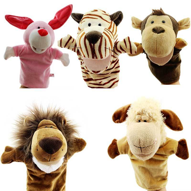Pudcoco Xmas Cute Gifts Animal Wildlife Hand Glove Puppet Soft Plush Puppets Kid Toy Gift
