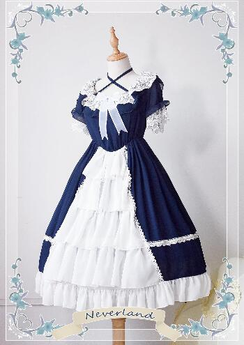Magic Tea Party Sweet Lolita Dress The Rabbits of Easter Series Printed OP Lolita Dress
