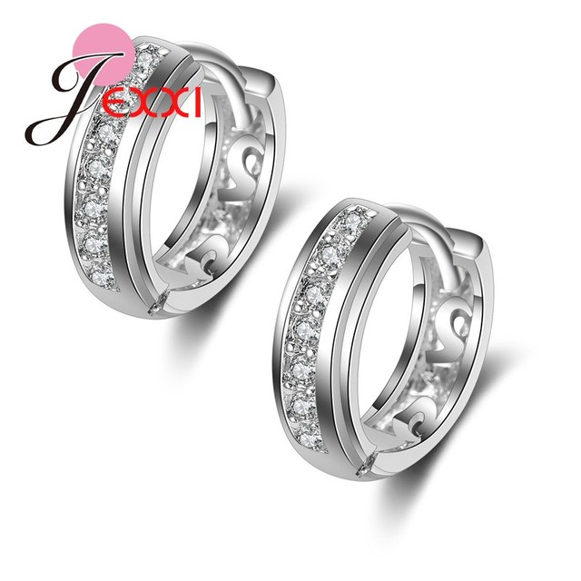 Jemmin Fashion 925 Sterling Silver Stud Earrings For Women Generous New Arrival Party Accessories With Shiny Crystal Wholesale