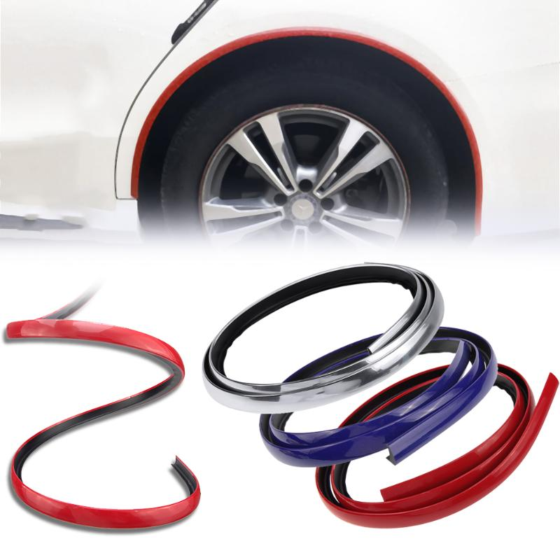 VODOOL 1.5m Carbon Fiber Car Fender Flare Extension Wheel Eyebrow Protector Stripe for Universal Car High Quality Car Styling