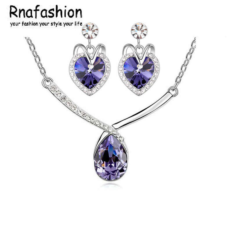 Bridal Wedding Jewelry Sets For Women 2017 Austrian Crystal Jewellery Sets Charm Silver And KC Jewerly Sets African
