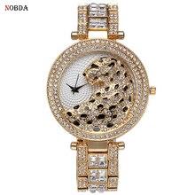 2017 Nuevo Lujo de Cristal de Diamante Relojes Mujeres Casual Reloj de la Tira de Acero de Oro Rosa Reloj de Oro Brillante Pulsera de Moda de Vestir