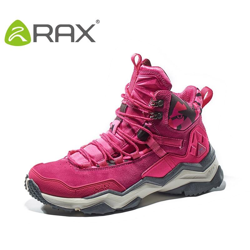 RAX Women Hiking Boots Waterproof Trekking Shoes Lightweight Mountain Climbing Boots Antislip Outdoor Sports Shoes Toursim