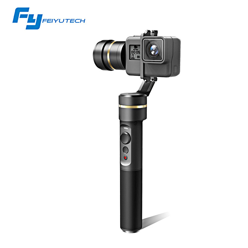 FeiyuTech fy G5 3-axis Handheld Gimbal Splashproof Bluetooth APP For GoPro HERO 6 5 4 3 3+ Xiaomi yi 4k SJ AEE Action Cameras wewow sport x1 handheld gimbal stabilizer 1 axis for gopro hreo 3 3 4 smartphone iphone 7 plus yi 4k sjcam aee action camera