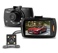 Excellent Car Dual Lens DVR Camera H 264 Front Full HD Car Camera Recorder 1280 1080P