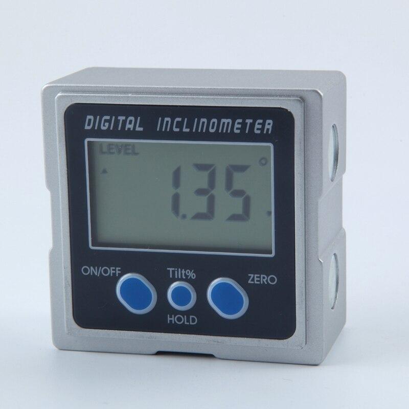 Mini Digital Protractor 360 Degrees 3 Magnet Base Digital Inclinometer Electronic Protractor Digital Bevel Box Angle Gauge Meter