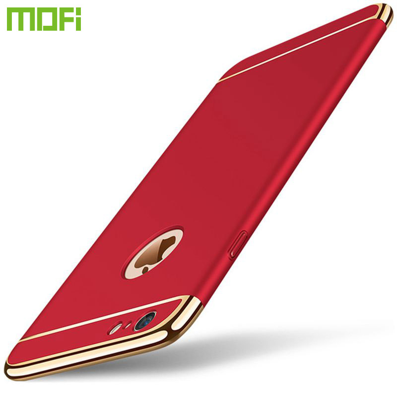 For iPhone 6S Case MOFi Luxury Hard Frosted PC Shockproof Plating Metal Texture Skin Protector Phone Case for iPhone 6 Plus