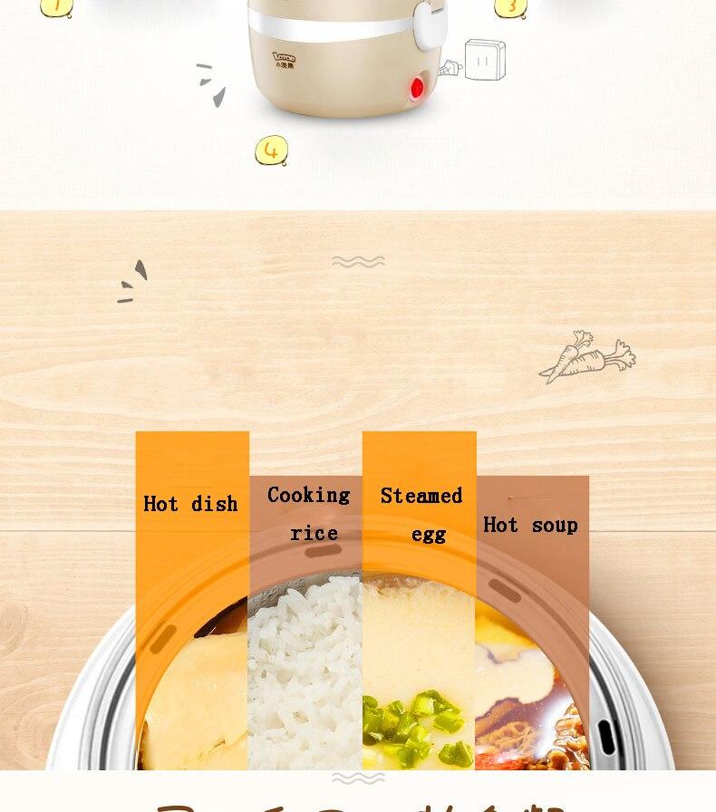 Portable Voiture Électrique Chauffée Food Warmer Box Récipient déjeuner repas chaud Lunchbox