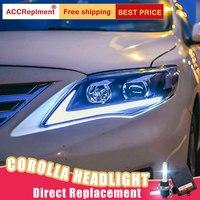 2 шт светодиодный фары для Toyota corolla 2011 2013 светодиодный огни автомобиля глаза ангела xenon HID комплект протовотуманная подсветка Габаритные огн