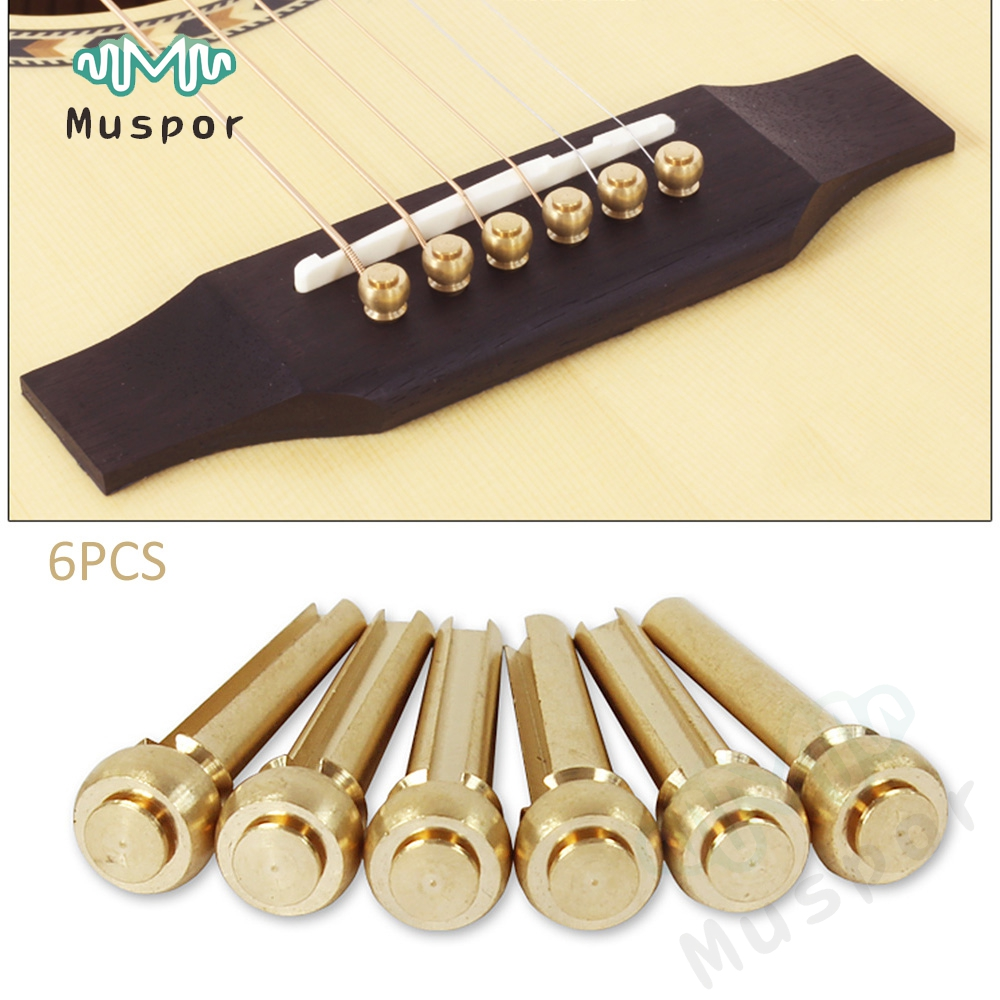 Pure Copper Brass <font><b>Guitar</b></font> Strings Pegs Folk <font><b>Acoustic</b></font> <font><b>Guitar</b></font> <font><b>Bridge</b></font> Pin guitarra strings Peg string Nail Increase sustain image
