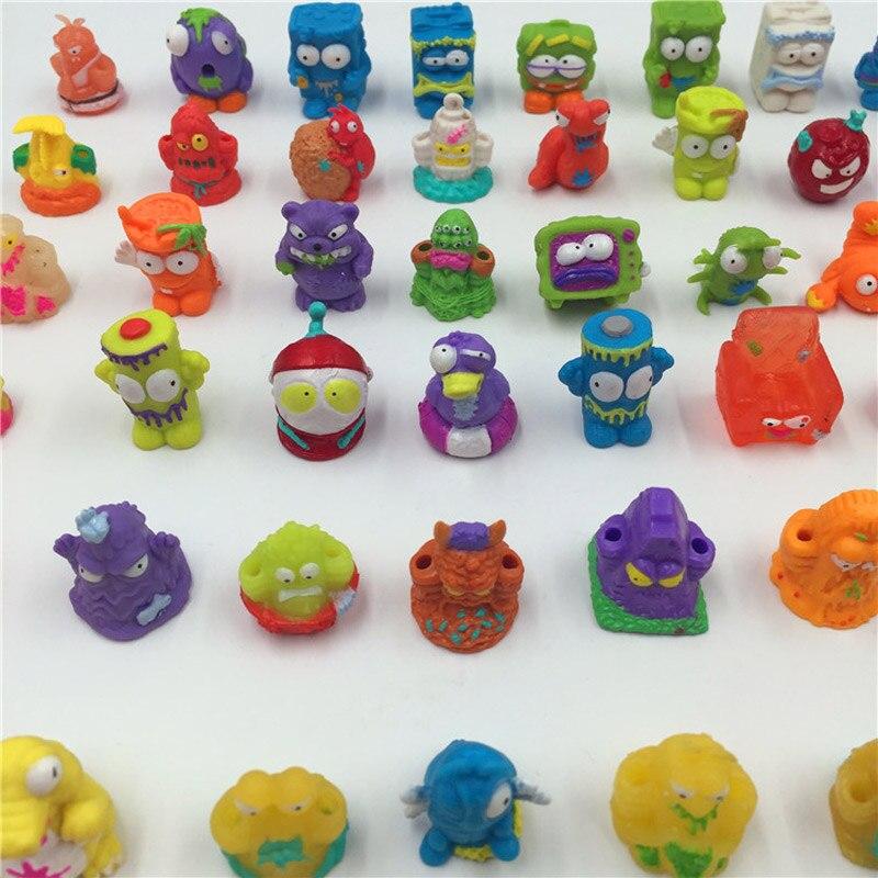 100pcs/lot Trash Mini Action Figure Pack Grossery Rotten Bin