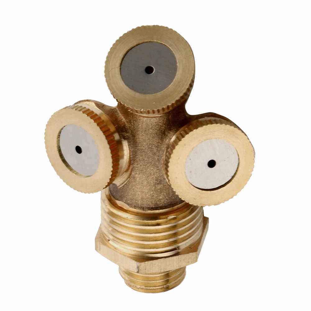 1/2/3/4 Hole Brass Hose Pipe Fitting Garden Tap Spray Nozzle Mist For Cooling Multifunction Hand Tools Garden Ball Valve#es#20