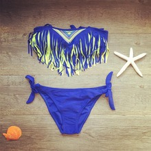 2019 New Children Swimwear Tassel Girls Split Swimwear Baby Kids Two Piece Biquini Infantil Swimsuits Girls Bikini Bathing Suit